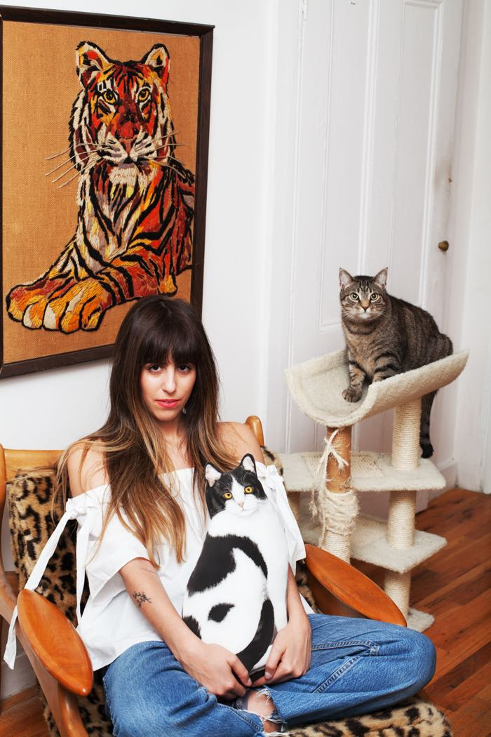 Emmy Marucci photographed by BriAnne Wills for Girls and their Cats
