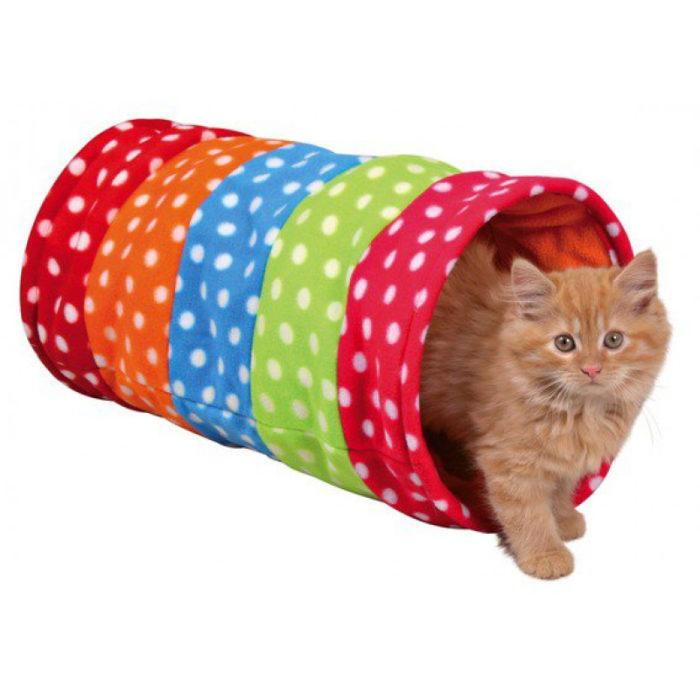 Multicoloured fleece tunnel