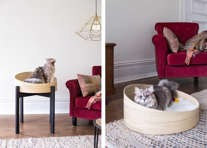 dandy cat designer cat basket bed