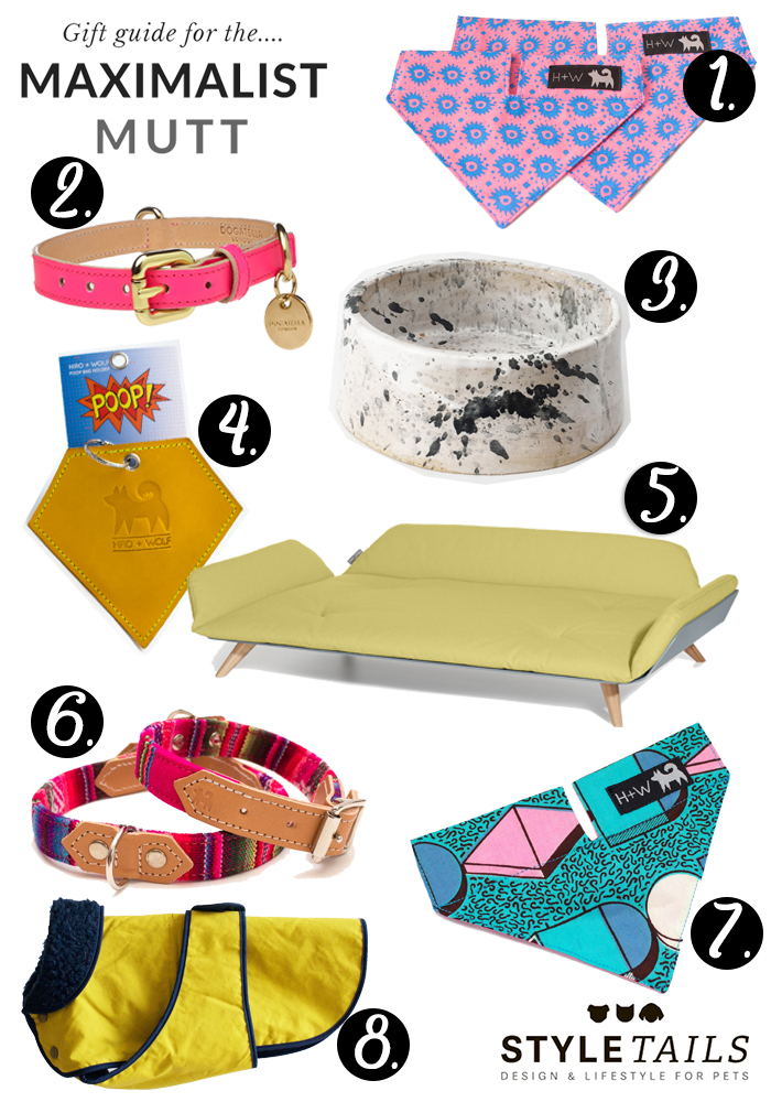 Maximalism for mutts Christmas dog gift guide