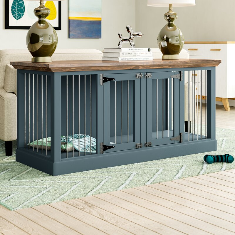 Damien Double Credenza Pet Crate by Archie & Oscar