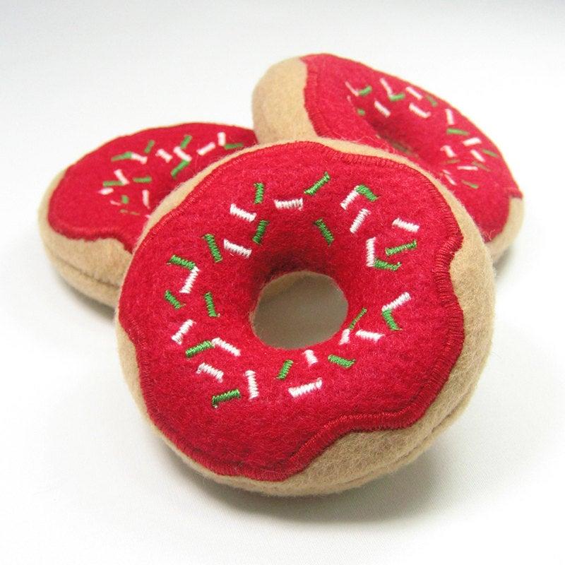 christmas doughnut cat toy