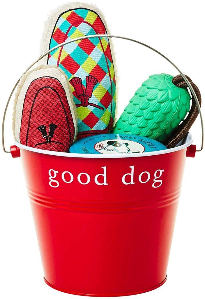 harry barker dog toy gift bucket